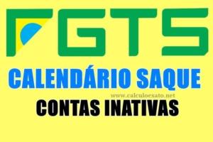 calendario de saque das contas inativas do FGTS