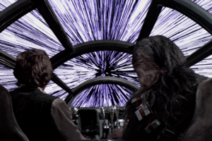 Han Solo Star Wars ano luz velocidade da luz
