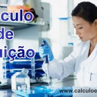 calculo de diluição