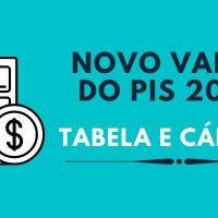 novo valor do PIS 2020