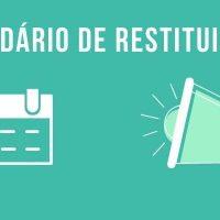 calendário da restituição