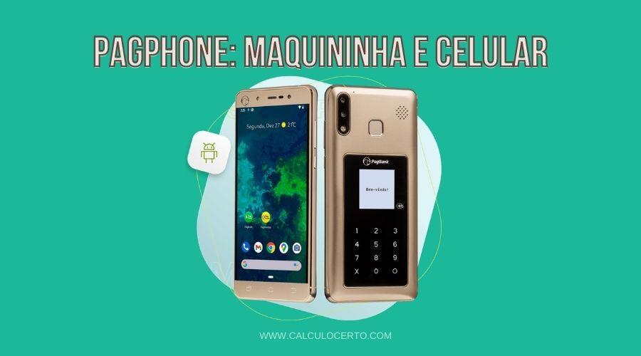 Pagphone, maquinha de cartão e celular