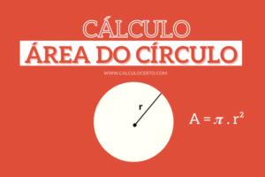 cálculo da área do círculo