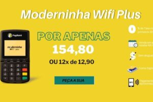 moderninha wifi plus pagseguro